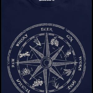 Alkoholický kompas modré pánské tričko
