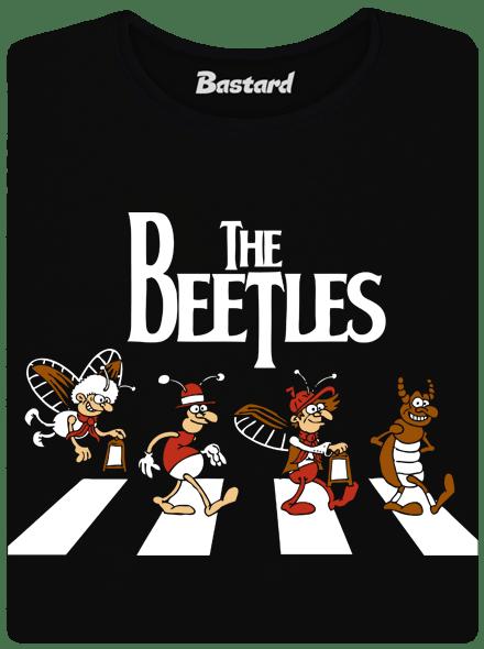 Beatles černé dámské tričko