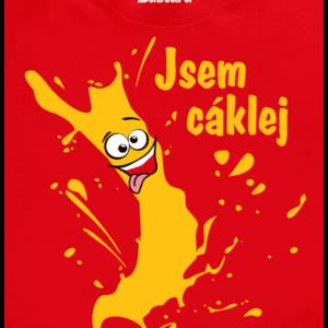 Cáklej červené pánské tričko