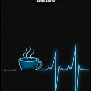 Coffee help černé dámské tričko