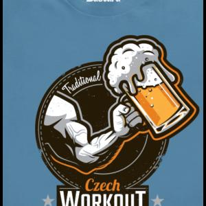 Czech Workout modré pánské tričko