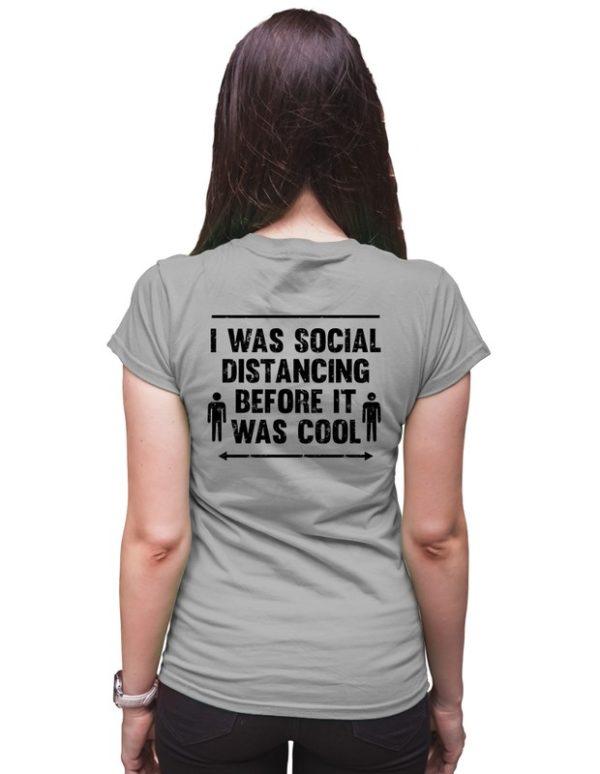 Dámské tričko Social distancing