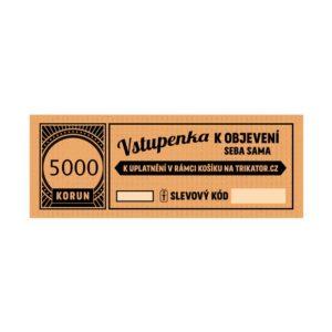 Dárkový kupon 5000Kč