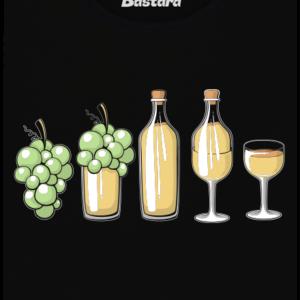 Evoluce bílého vína dámské tričko