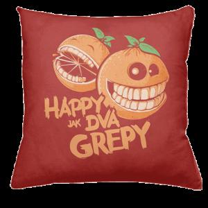 Happy grepy polštář