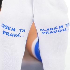 Hledám tu pravou modré ponožky
