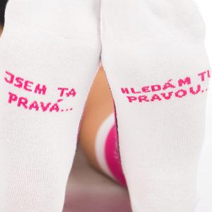 Hledám tu pravou růžové ponožky
