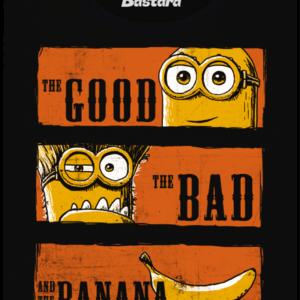 Hodný zlý a banán dámské tričko