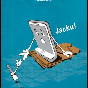 Jacku modré pánské tričko