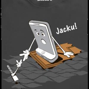 Jacku šedé pánské tričko