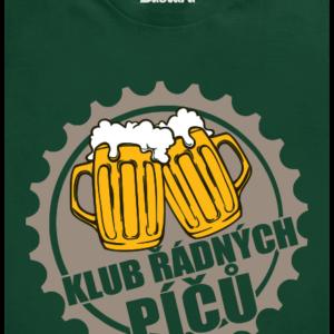 Klub řádných píčů zelené pánské tričko
