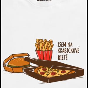 Krabičková dieta bílé pánské tričko