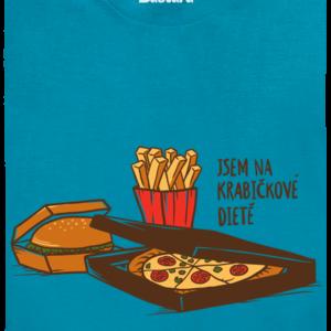 Krabičková dieta modré pánské tričko