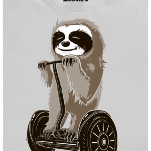 Lenochod šedé pánské tričko