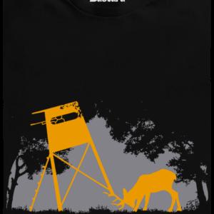 Lesní harmonie černé pánské tričko