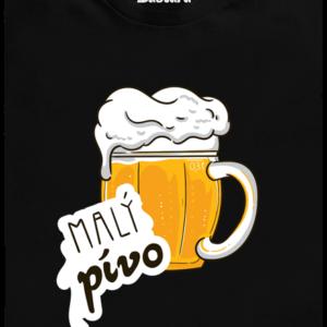 Malý pívo černé dětské tričko