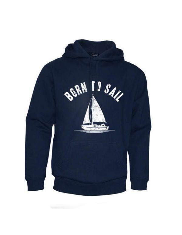 Mikina tmavě modrá unisex - Born to Sail