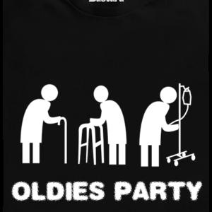 Oldies party černé pánské tričko