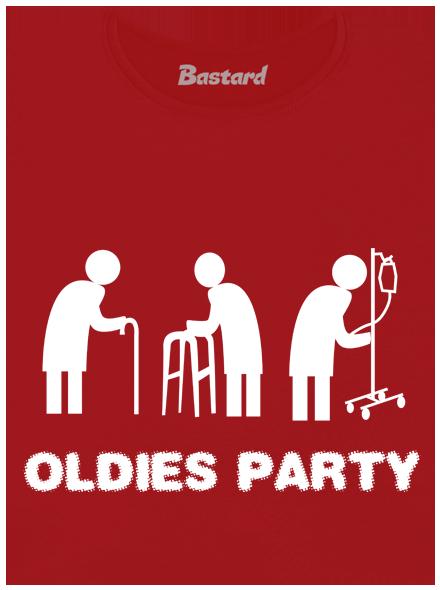 Oldies party červené dámské tričko