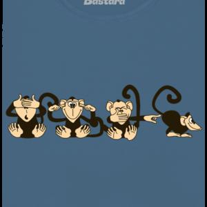 Opice modré dámské tričko