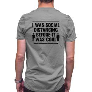 Pánské tričko Social distancing