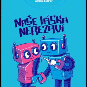 Roboti modré dámské tričko