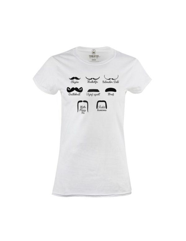Tričko dámské Moustaches