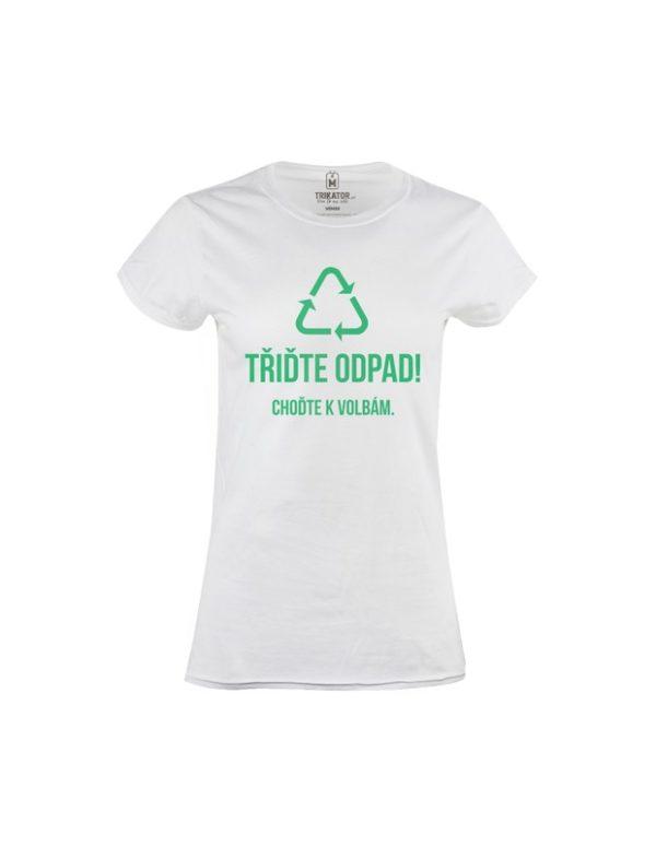 Tričko dámské Třiďte odpad