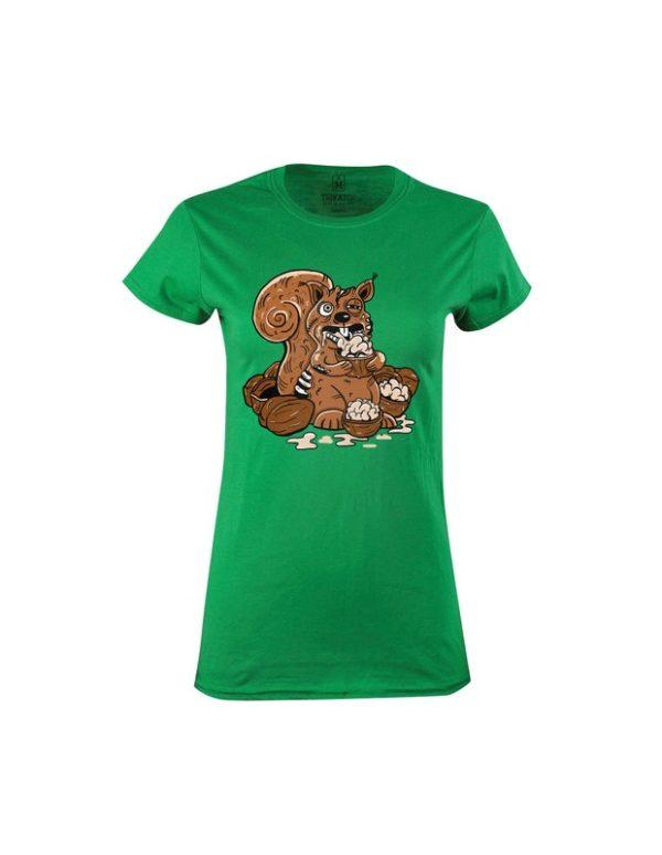 Tričko dámské Zombie veverka