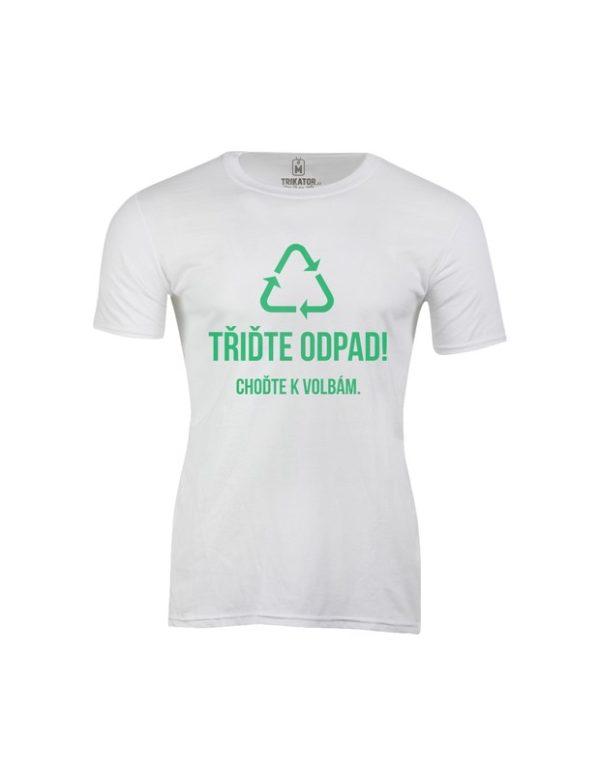 Tričko pánské Třiďte odpad