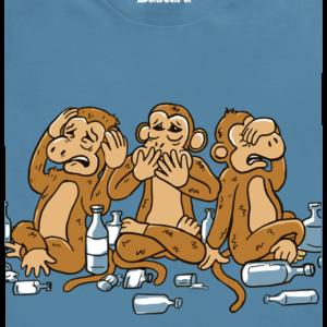Trojnásobná opice modré pánské tričko