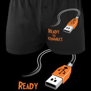 USB připojení - černé pánské trenky
