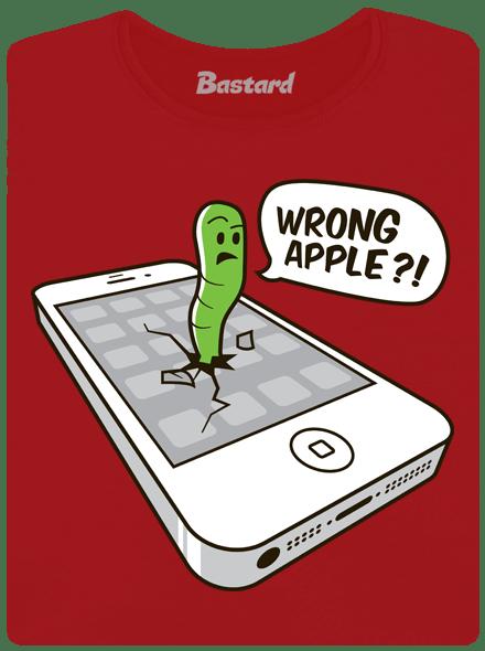 Wrong Apple červené dámské tričko