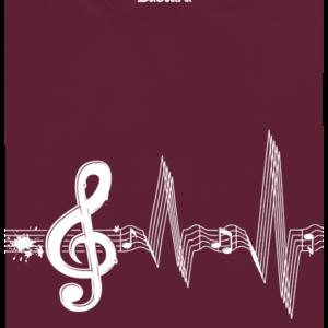 Žiju muzikou vínové pánské tričko