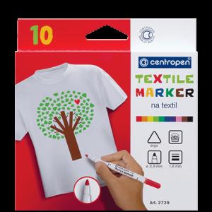 Centropen fixy na textil – 10 barev