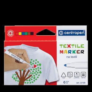 Centropen fixy na textil – 6 barev