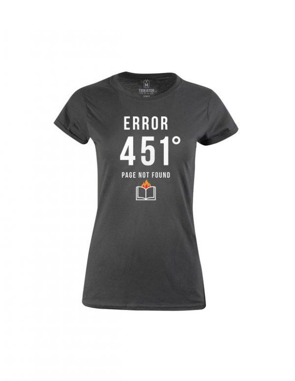 Tričko tmavě šedé dámské Error 451