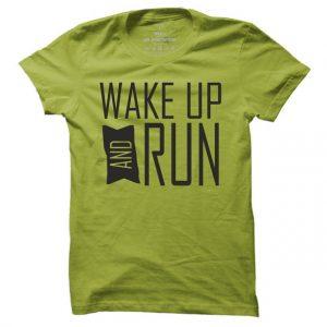 Běžecké tričko Wake up and run pro muže