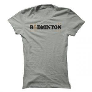 Dámské badmintonové tričko Badminton Label