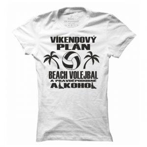 Dámské beachvolejbalové tričko Víkendový plán beachvolleyball
