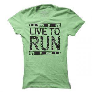 Dámské běžecké tričko Live to run