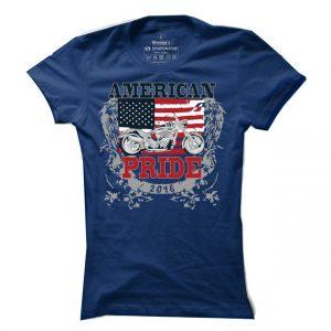 Dámské bikerské tričko American pride