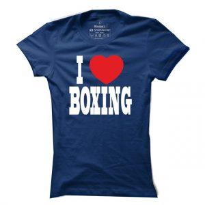 Dámské boxerské tričko I love boxing