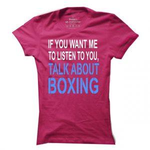 Dámské boxerské tričko Talk Boxing