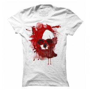 Dámské casual tričko Red skull