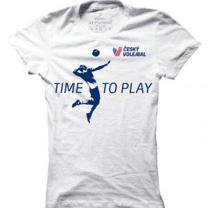 Dámské čvs tričko Time To Play - Strike-Modrá