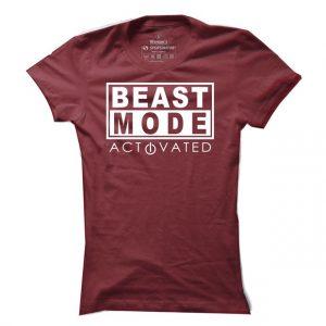 Dámské fitness tričko Beast Mode Activated