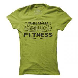 Dámské fitness tričko Fitness máma