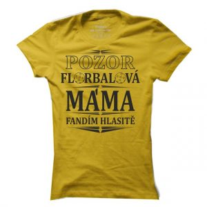 Dámské floorbalové tričko Pozor floorbalová máma