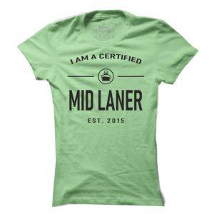 Dámské games tričko Mid Laner